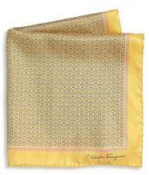 Salvatore Ferragamo Ganci Rope Pattern Silk Pocket Square
