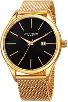 Akribos XXIV Men's Sunburst Effect Mesh Bracelet Watch