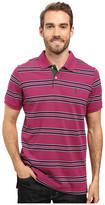 U.S. Polo Assn. Short Sleeve Balanced Stripe Pique Polo Shirt