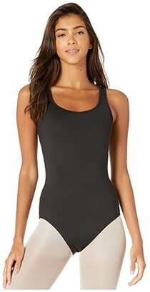 Bloch Back Panel Tank Leotard (Black) Women's Jumpsuit & Rompers One Piece