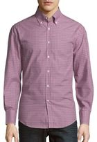 Brunello Cucinelli Check Pattern Cotton Sportshirt