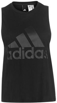 adidas Linear Sleeveless T Shirt Ladies