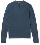 Loro Piana - Wool And Silk-blend Henley T-shirt