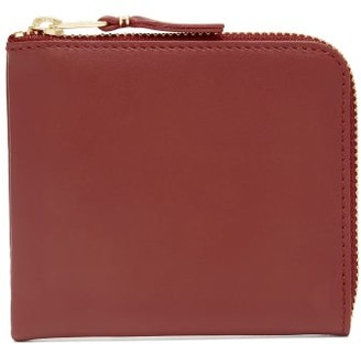 Comme des Garcons Zip-around Leather Wallet - Womens - Red