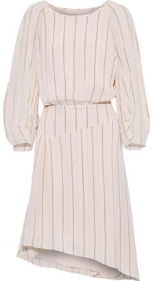 Joie Gabisa Asymmetric Striped Voile Dress