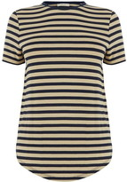 Oasis Dip Hem Stripe Formal T-Shirt