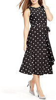 Lauren Ralph Lauren Plus Racing Dots Matte Jersey Dress