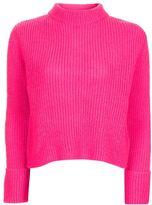 Petite lofty turnback cuff knitted jumper
