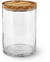 Williams-Sonoma Williams Sonoma Olivewood & Glass Canister