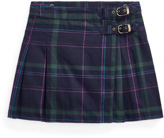 Ralph Lauren Plaid Twill Kilt Skirt