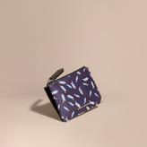 Burberry Leaf Jacquard Zip-top Wallet