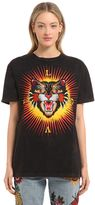 Gucci Angry Cat Printed Cotton Jersey T-Shirt
