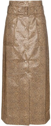 Nanushka Aarohi snakeskin print skirt