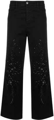 Ermanno Scervino Sequin-Embellished Jeans