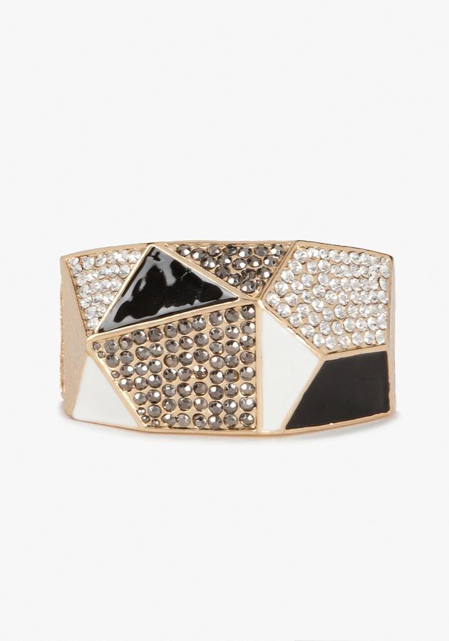 Bebe Geometric Rhinestone Bracelet