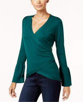 Thalia Sodi Bell-Sleeve Wrap Sweater, Created for Macy's