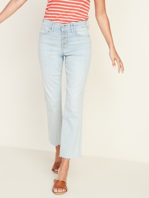 Old Navy High-Waisted Button-Fly Flare Ankle Rockstar Jeans For Women