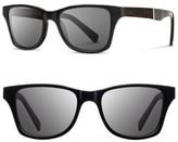 Shwood Men's 'Canby' 53Mm Wood Sunglasses - Black/ Ebony/ Grey