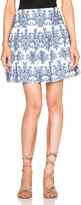 Nicholas Ruffle Mini Skirt in Blue & White