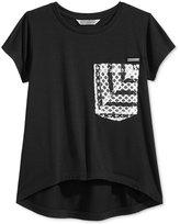 Sean John Lace Pocket T-Shirt, Big Girls (7-16)