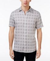 Michael Kors Men's Abstract Windowpane Shirt