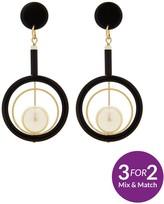 Very Pearl Drop Circle Detail Earrings