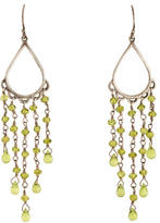 Me & Ro Me&Ro Vesuvianite Teardrop Fringe Earrings