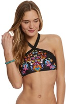 Hobie Swimwear Strike A Posey Cutout High Neck Bikini Top 8153581