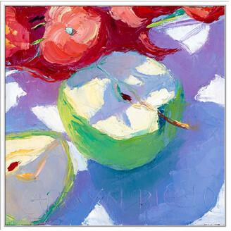 Jonathan Bass Studio Fruit Slices Ii, Decorative Framed Hand Embellished Canvas