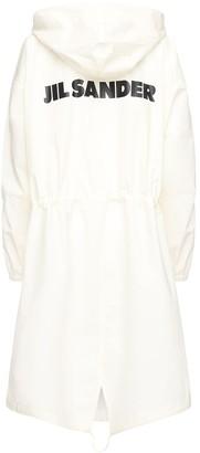 Jil Sander Cotton Windbreaker Coat W/ Back Logo