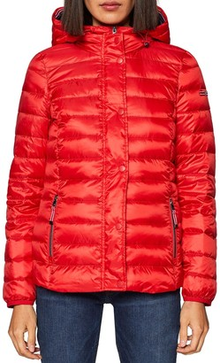 Esprit Lightweight Hooded Padded Jacket with Pockets