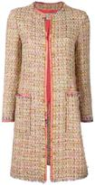 Etro tweed mid coat - women - Silk/Cotton/Acrylic/Viscose - 48