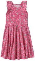 Girls 4-10 Jumping Beans® Flutter Sleeves Print Dress