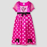 Minnie Mouse Toddler Girls' Disney Minnie Mouse Short Sleeve Nightgown Pink