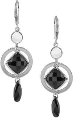 Elle Sterling Silver Melody Black Agate Earrings