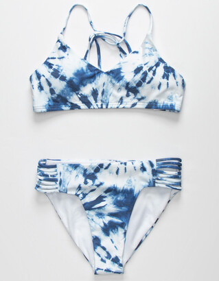 Full Tilt Tie Dye Girls Bralette Bikini Set