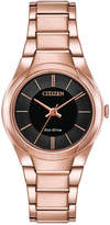Citizen Eco-Drive Women's Rose Gold-Tone Stainless Steel Bracelet Watch 29mm