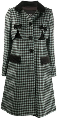 Marc Jacobs A-line check pattern coat