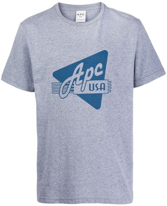 A.P.C. printed cotton T-shirt