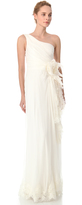 Alberta Ferretti Collection One Shoulder Gown