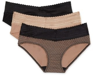 Blissful Benefits by Warner's Women's No Muffin Top w/ Lace Hipster, 3-Pack