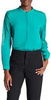 The Kooples Lace Paneled Long Sleeve Shirt
