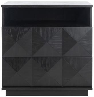 Safavieh Patty 2 Drawer Nightstand, Black