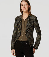 LOFT Draped Fringe Tweed Jacket