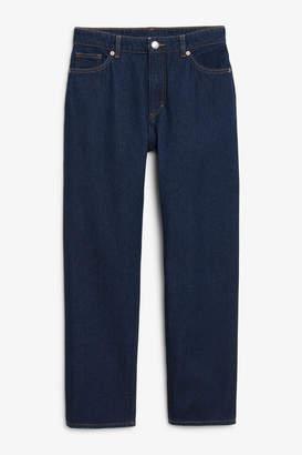 Monki Moluna dark blue jeans