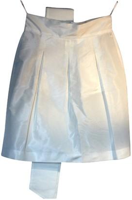 Miu Miu White Silk Skirt for Women