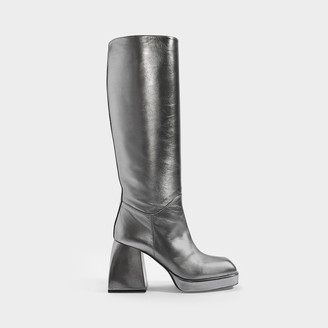 Nodaleto Bulla Solal Boots In Silver Leather