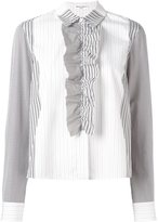 Sonia Rykiel striped draped shirt