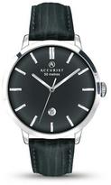 Accurist Black Leather Strap Watch 7010.01