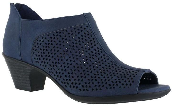 Blue Peep Toe Women's Boots - ShopStyle